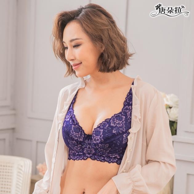 台灣製D-F大罩杯。調整型內衣 高脅邊穩定包覆 舒適集中-深紫色36.38.40.42.44(7101)-唐朵拉 3