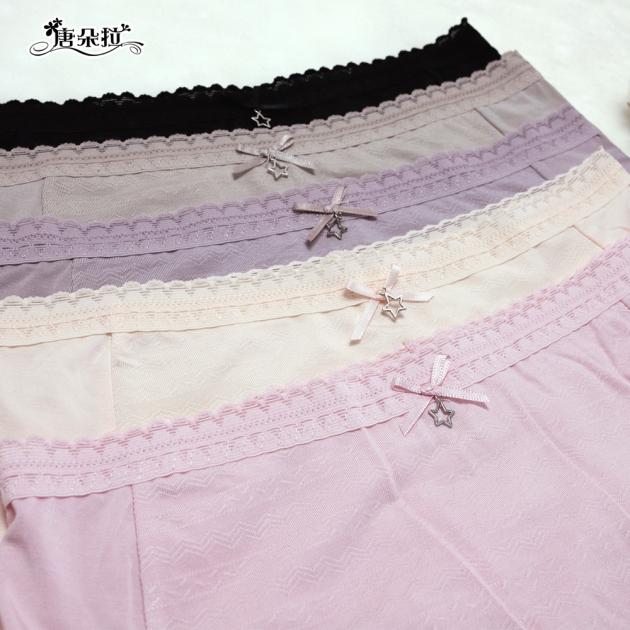 莫代爾 L-XL 輕柔舒適 星星吊墜 透氣親膚好穿/女內褲/單品平口褲【 唐朵拉 】(389) 4
