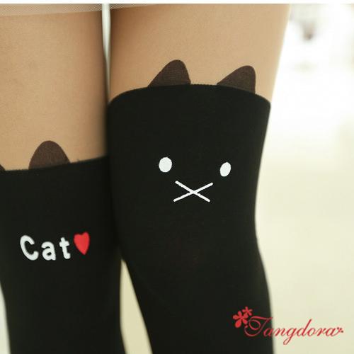 唐朵拉熱銷日版韓系可愛小貓修飾美腿超顯瘦透氣輕薄膝上假大腿高捷少女貼身褲襪 (220) 1