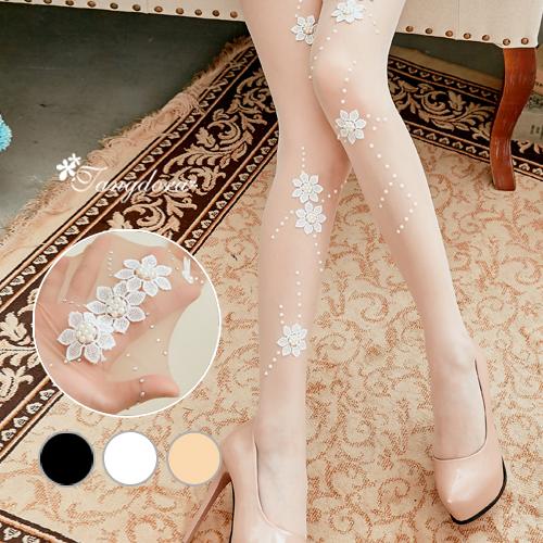 【 唐朵拉 】日系點點手工蕾絲花朵 20D超薄任意剪透膚絲襪/彈性褲襪/貼身親膚/防勾絲(274) 1